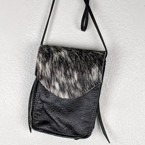 Small one pocket crossbody purse Leather/Fur